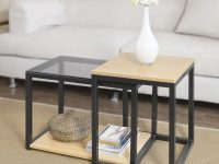 Us $59.95  Sobuy Fbt35 Sch Modern Nesting Tables Set Of 2 Coffee Table End Table Living Room Furniture-In Coffee Tables From Furniture On pertaining to Living Room Furniture Tables