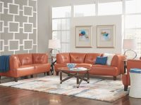 Villa Capri Orange 3 Pc Leather Living Room | 60's 70's Home intended for Luxury Red Leather Living Room Furniture