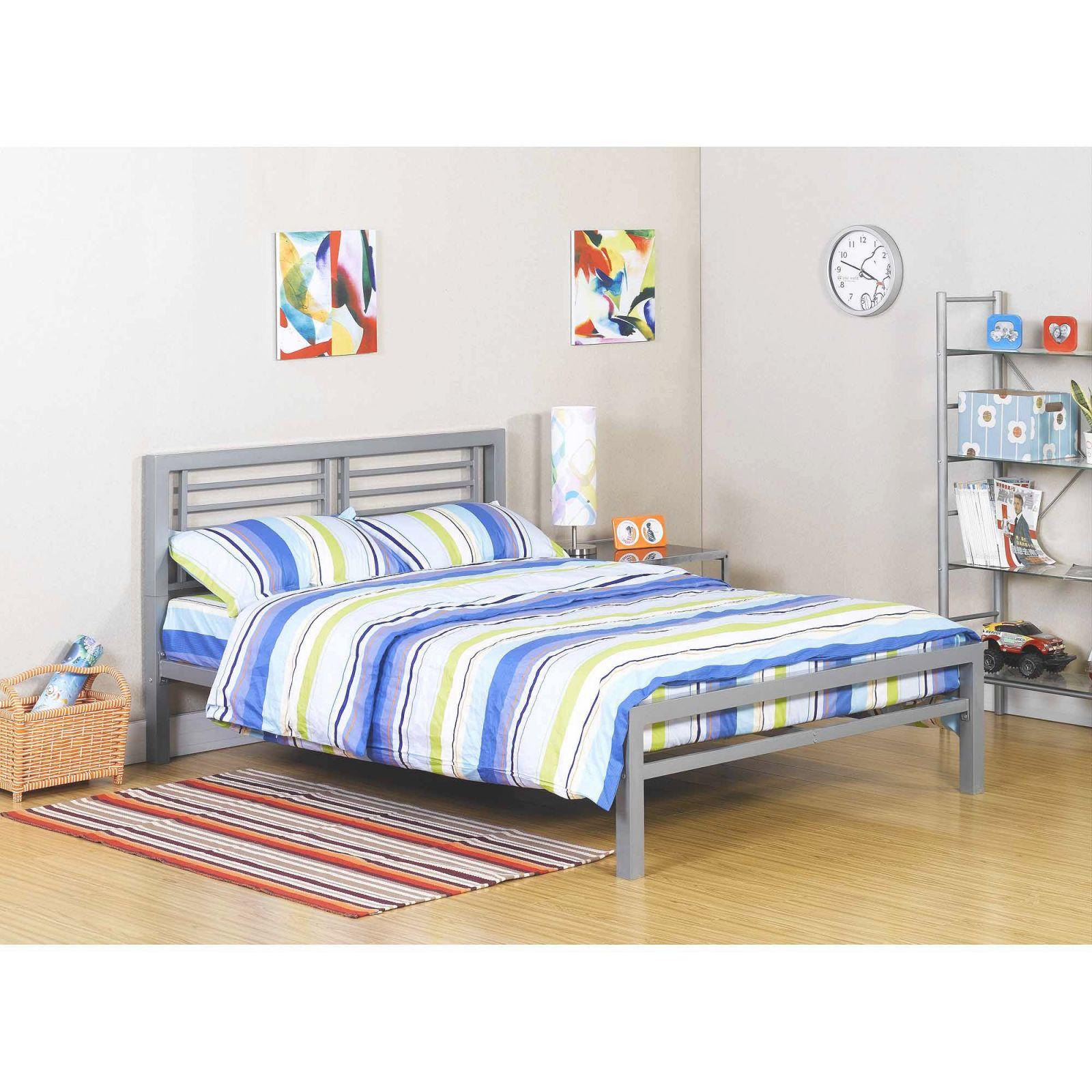Walker Edison Twin Roll-Out Metal Trundle Bed Frame – Black inside Full Size Bed With Trundle Bedroom Set