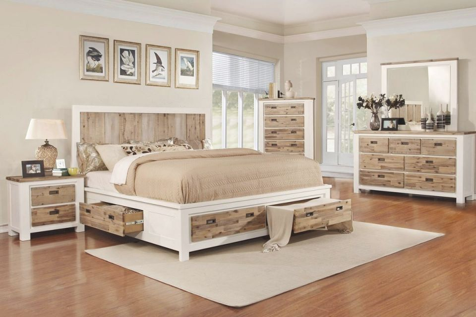 "Western 5-Piece King Bedroom Set With 32"" Led-Tv for Bedroom Set Queen"