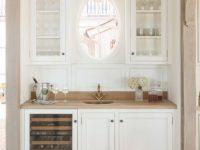 Wet Bar, White And Natural Wood | 20E9Th_10Tu | Living Room regarding Living Room Bar Ideas