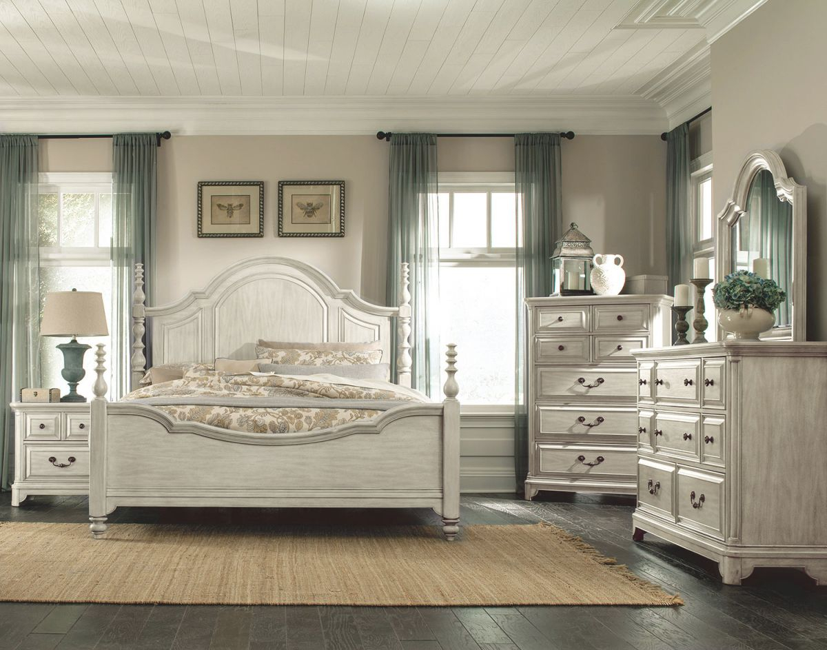 Windsor Lane Queen 4-Piece Queen Bedroom Set - White with regard to Beautiful Bedroom Set Queen
