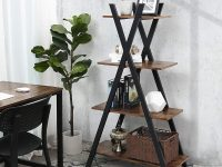 wood-and-black-ladder-shelf-with-x-shaped-frame-and-four-tiers-for-storage-and-decor