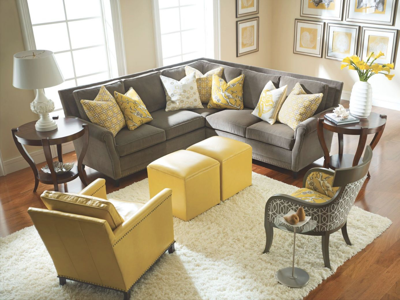 Yellow And Gray Rooms | Decorating | Grey, Yellow Living for New Yellow Living Room Furniture