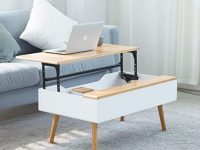 Zen's Bamboo Lift Top Coffee Table Hidden Storage Drawer Living Room Furniture | Living Room Ideas within Storage Furniture For Living Room