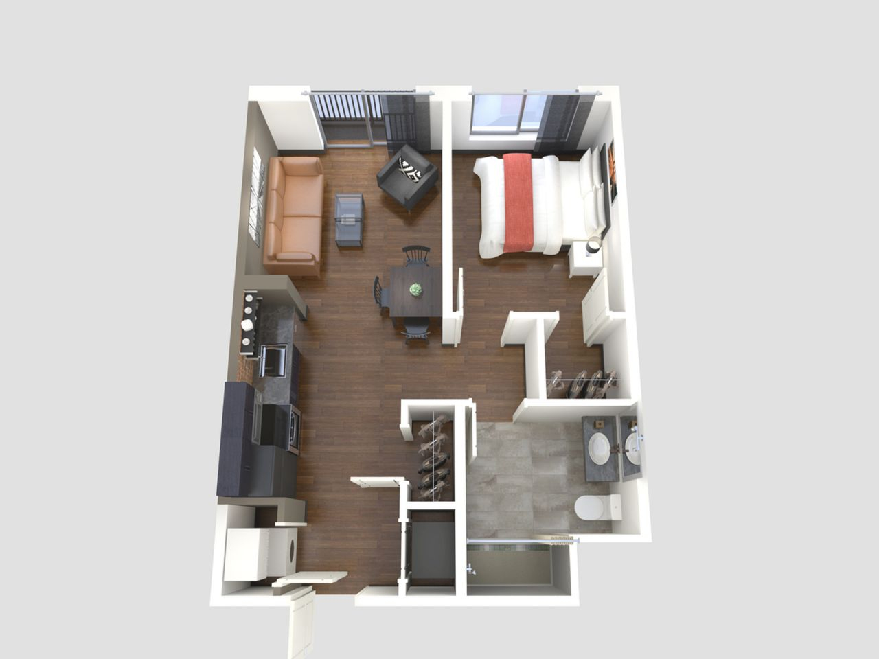 1 Bed / 1 Bath Apartment In Springfield Mo | Galloway Creek pertaining to One Bedroom Apartment Floor Plans