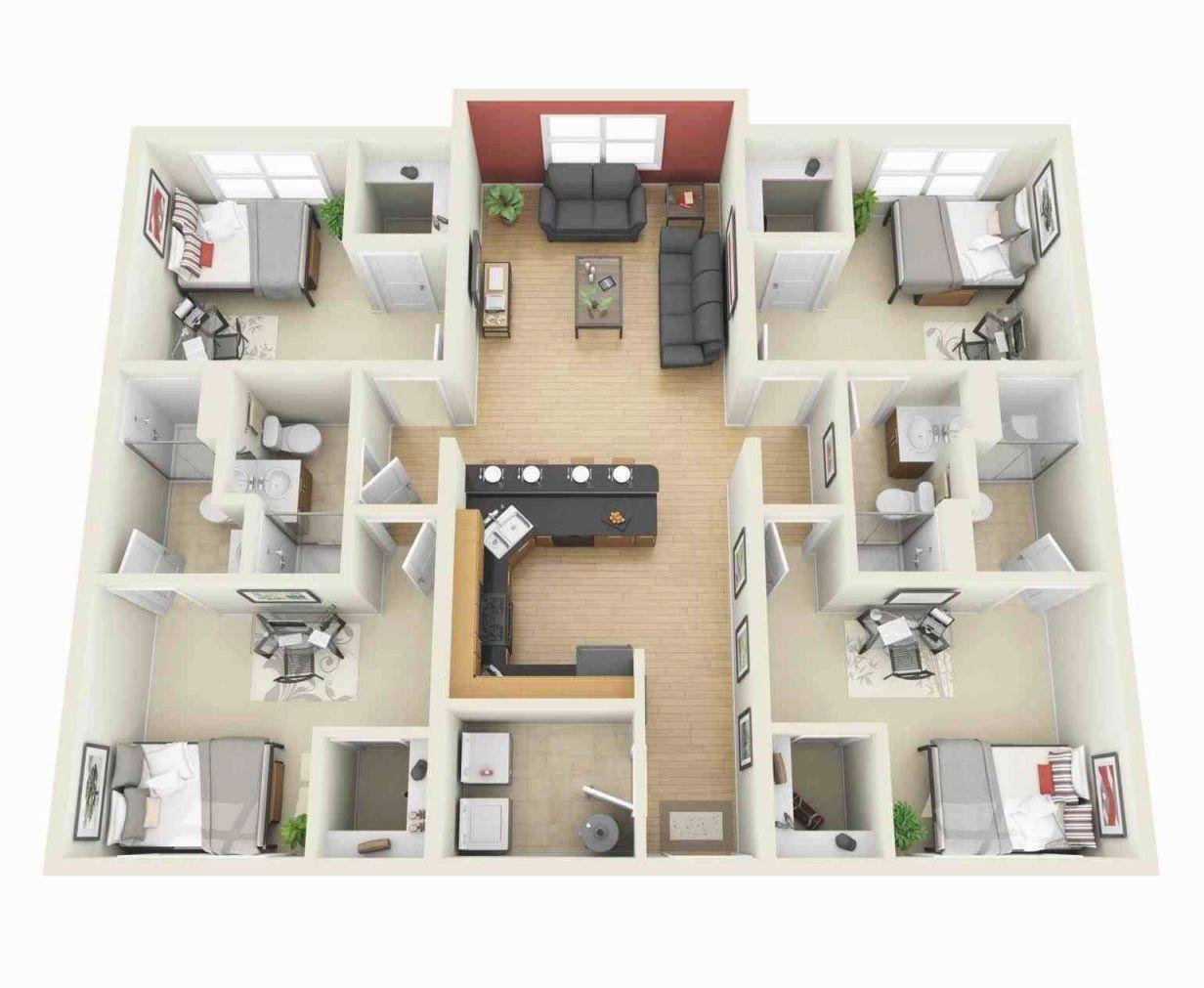 1 Bedroom Apartment Floor Plans 3D – One Bedroom House Plans for One Bedroom Apartment Floor Plans