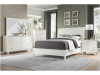 1730Ww-Qgr Cotterill Queen Bedroom Set – White Finish Over Birch Veneer with regard to Bedroom Set Queen White