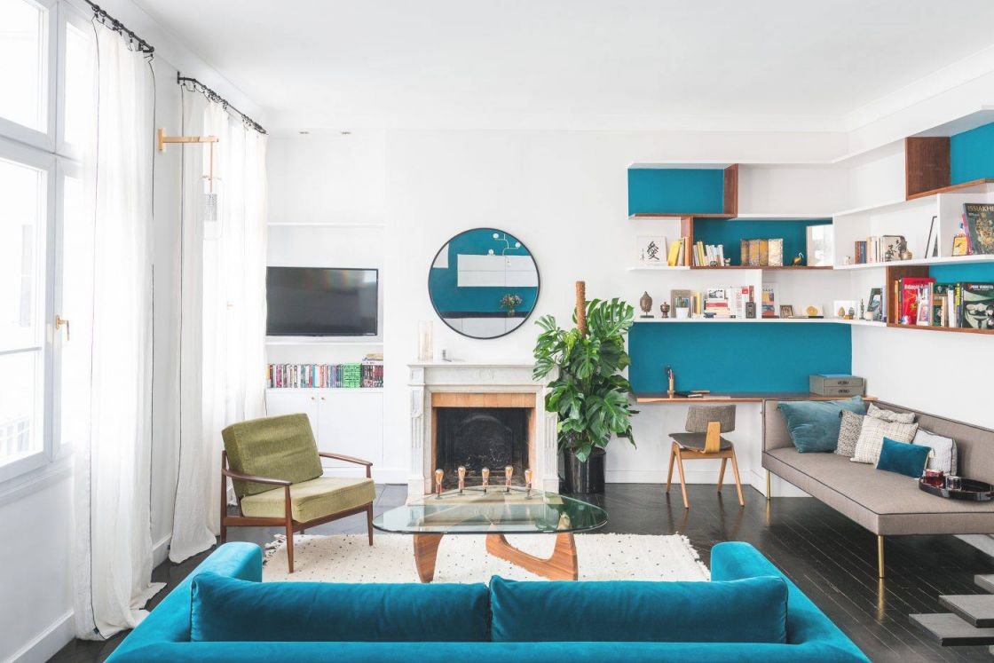19 Gorgeous Living Room Color Schemes For Every Taste for Elegant Turquoise Living Room Furniture