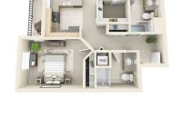 2 Bedroom Apartment Floor Plan 3D – One Bedroom Apartments throughout Fresh One Bedroom Apartment Floor Plans