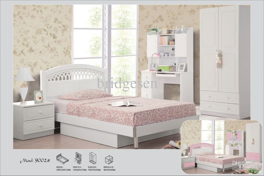 2019 White / Pink Princess Children Bedroom Furniture From Bridgesen, &price; | Dhgate for Beautiful Cheap White Bedroom Furniture Sets