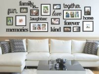 22 Pcs Word Family Is Photo Picture Frame Collage Set Black Home Wall Art Decor intended for Art Decor For Living Room