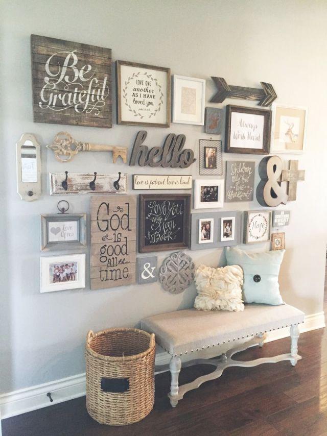 23 Rustic Farmhouse Decor Ideas | H O M E | Farmhouse Style intended for Ideas For Decorating Living Room Walls