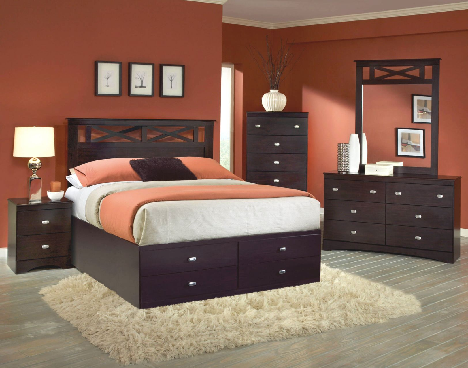 230 Kith Tyler 5 Pc Set With Queen Storage Bed with Cheap Queen Bedroom Furniture Sets