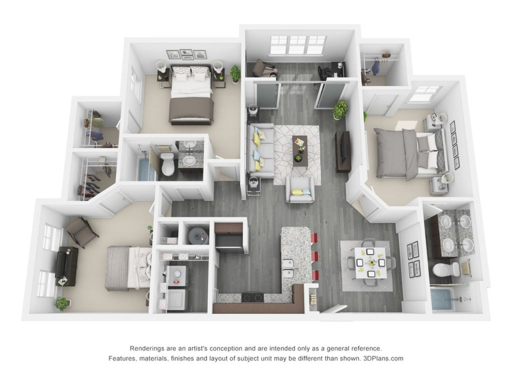 3 Bed / 2 Bath Apartment In Apopka Fl | Marden Ridge regarding Three Bedroom Apartment