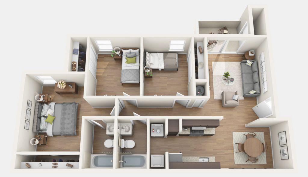 3 Bedroom Apartments In Gainesville Fl - Chelsea Apartments throughout Three Bedroom Apartment