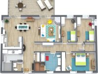 3 Bedroom Floor Plans | Roomsketcher with Three Bedroom Apartment