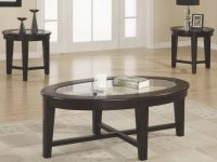 3 Piece Occasional Table Sets 3 Piece Occasional Table Set With Tempered Glass Insert for 3 Piece Glass Coffee Table Set