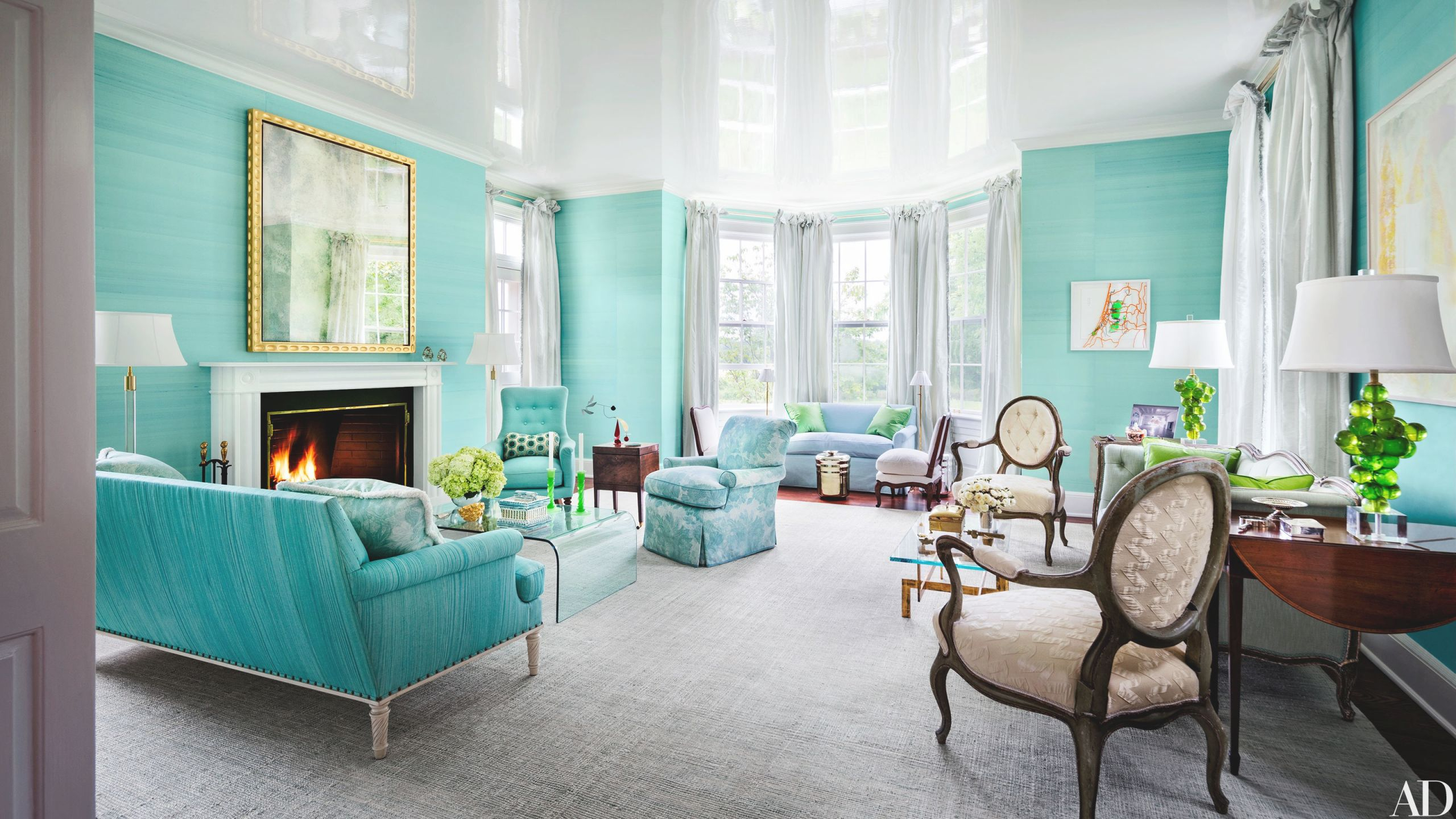 33 Spaces For Jewel-Tone Paint Color Inspiration intended for Teal Living Room Furniture