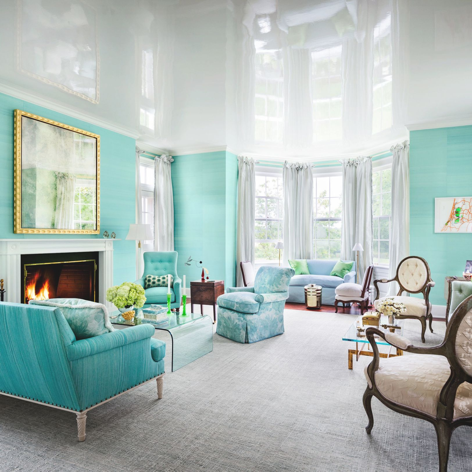 33 Spaces For Jewel-Tone Paint Color Inspiration throughout Elegant Turquoise Living Room Furniture