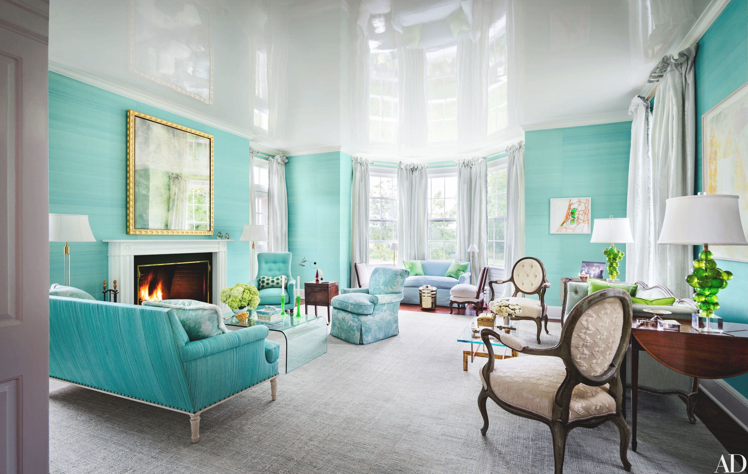 33 Spaces For Jewel-Tone Paint Color Inspiration with regard to Elegant Turquoise Living Room Furniture