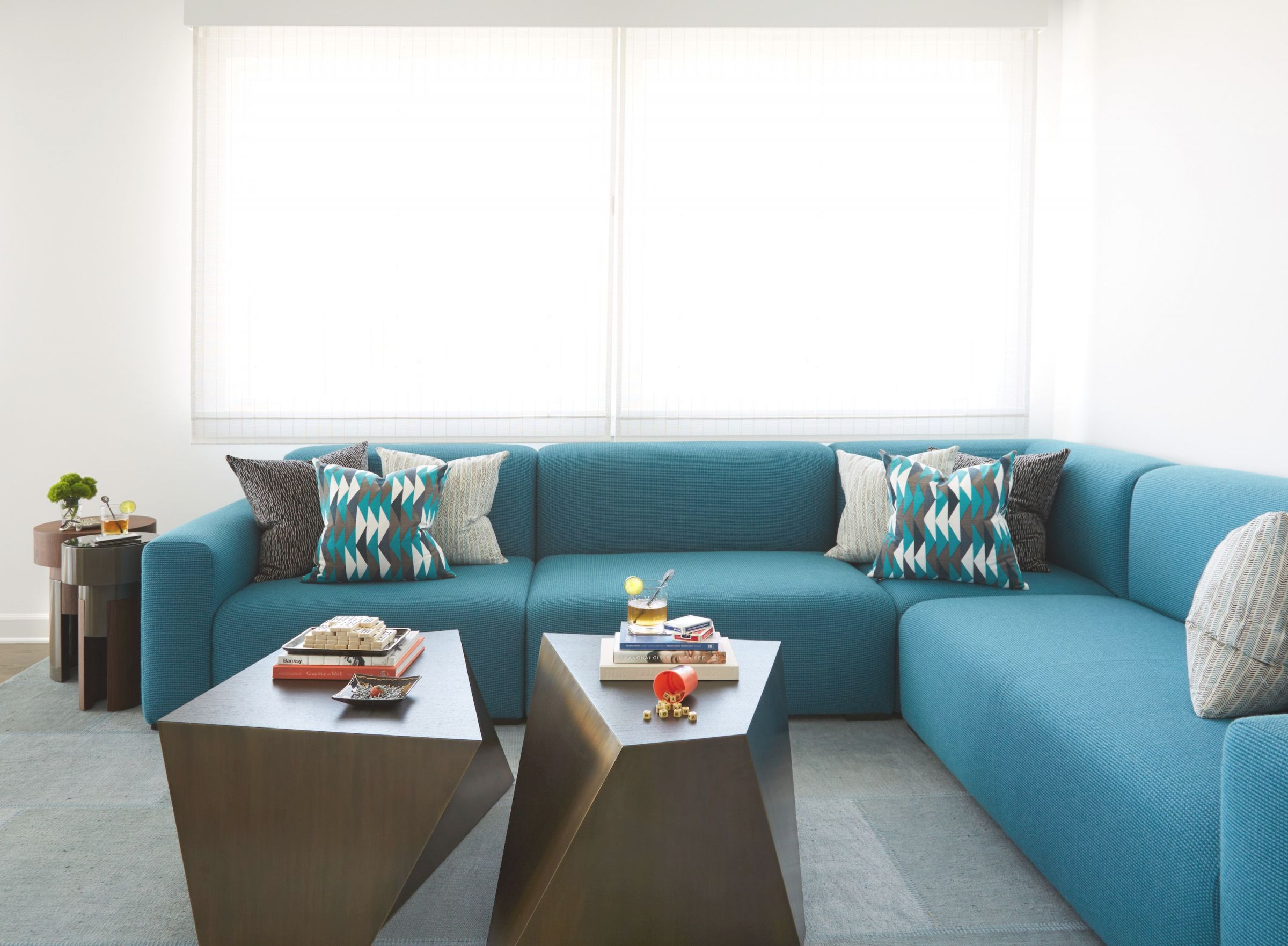 40 Sectional Sofas For Every Style Of Living Room Decor regarding Turquoise Living Room Furniture