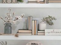 49 Smart Office Shelf Decor Ideas | Bookshelf Styling inside Decorating Shelves In Living Room