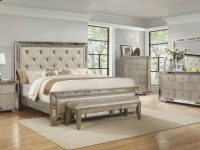4Pc California King Size Bed Solidwood Upholstered Hb/fb Bedroom Furniture Set throughout Luxury Oak Bedroom Furniture Sets