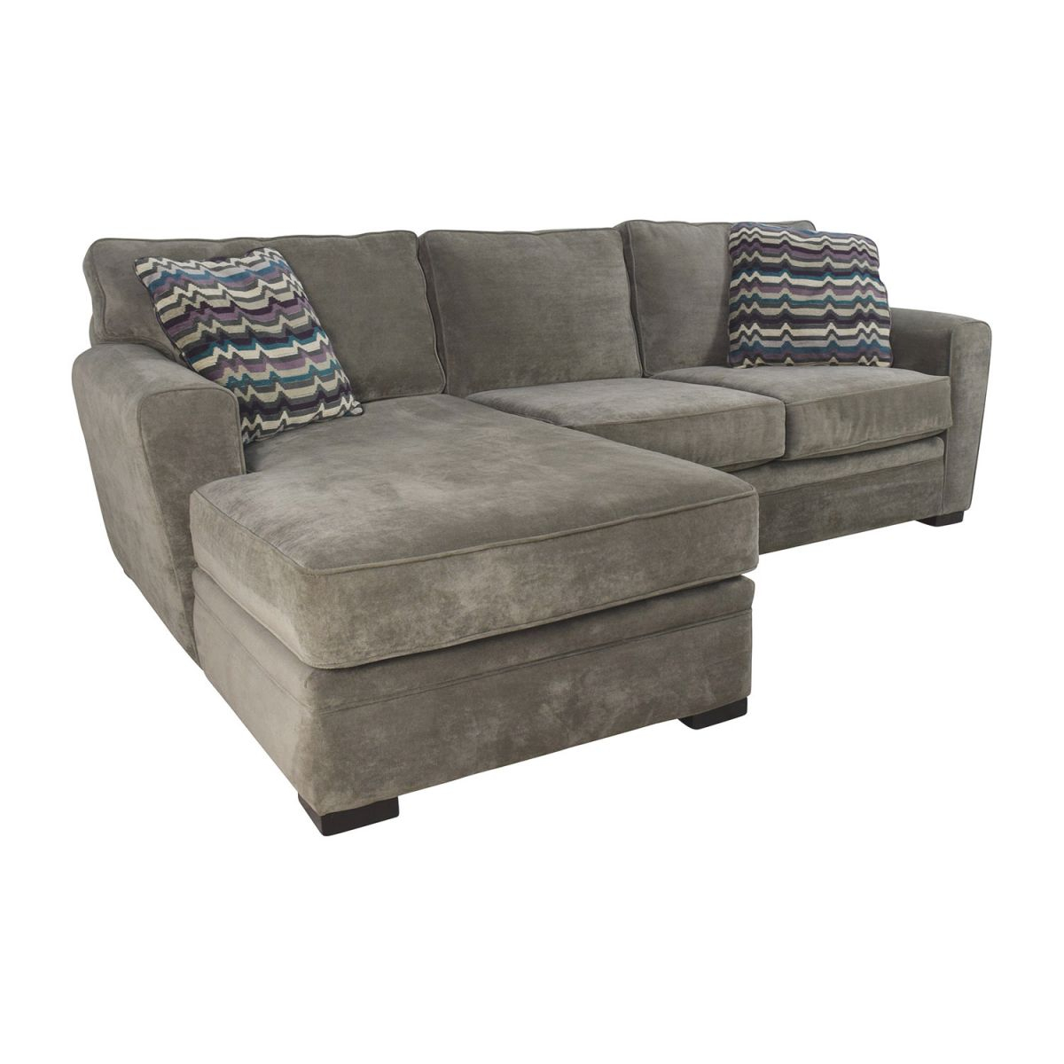 52% Off - Raymour & Flanigan Raymour & Flanigan Artemis Ii Microfiber Sectional Sofa / Sofas within Lovely Raymour And Flanigan Sectional Sofas