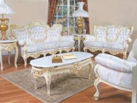 633 Aj Polrey French Provincial Style Living Room Set Floral Fabric within French Provincial Living Room Furniture