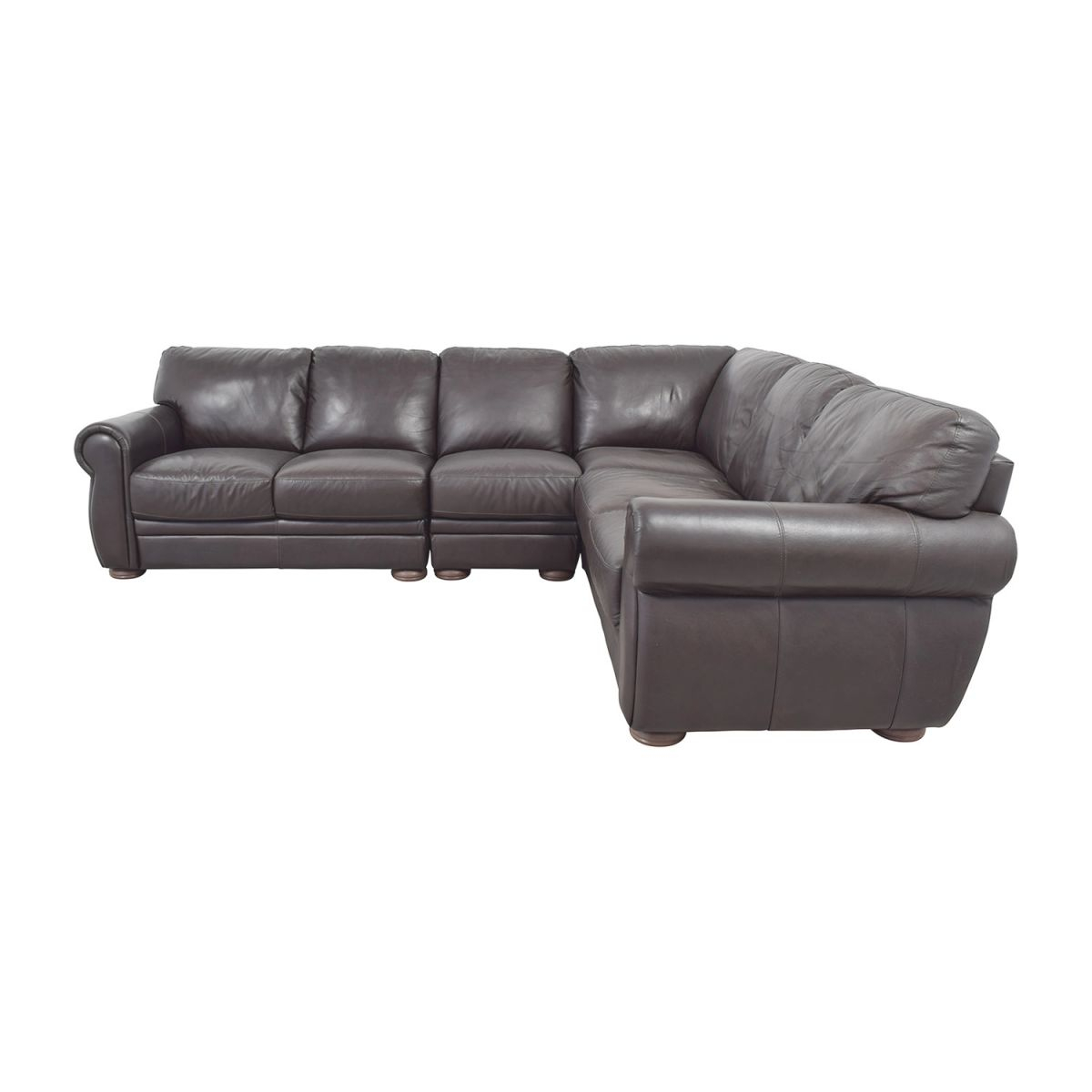 70% Off – Raymour & Flanigan Raymour & Flanigan Marsala Brown Leather L-Shaped Sectional / Sofas in Lovely Raymour And Flanigan Sectional Sofas