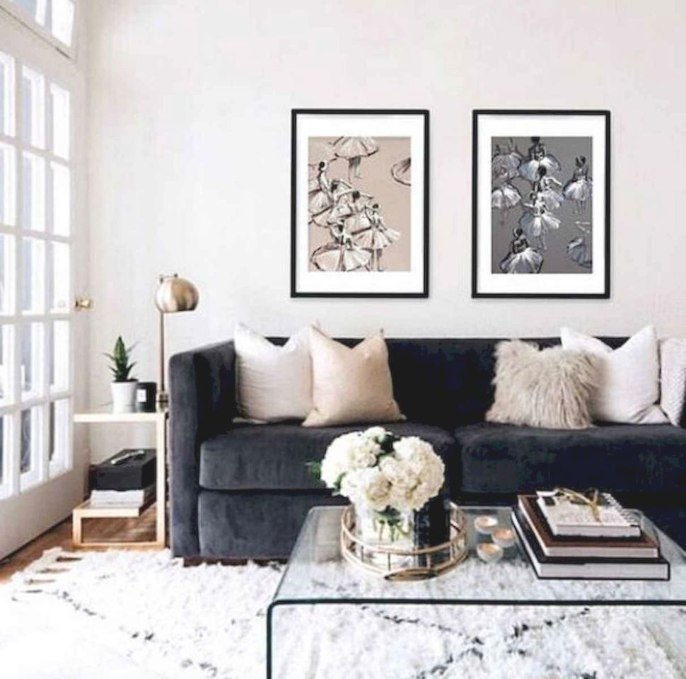 70 Stunning Grey White Black Living Room Decor Ideas And With Regard To Awesome Decors