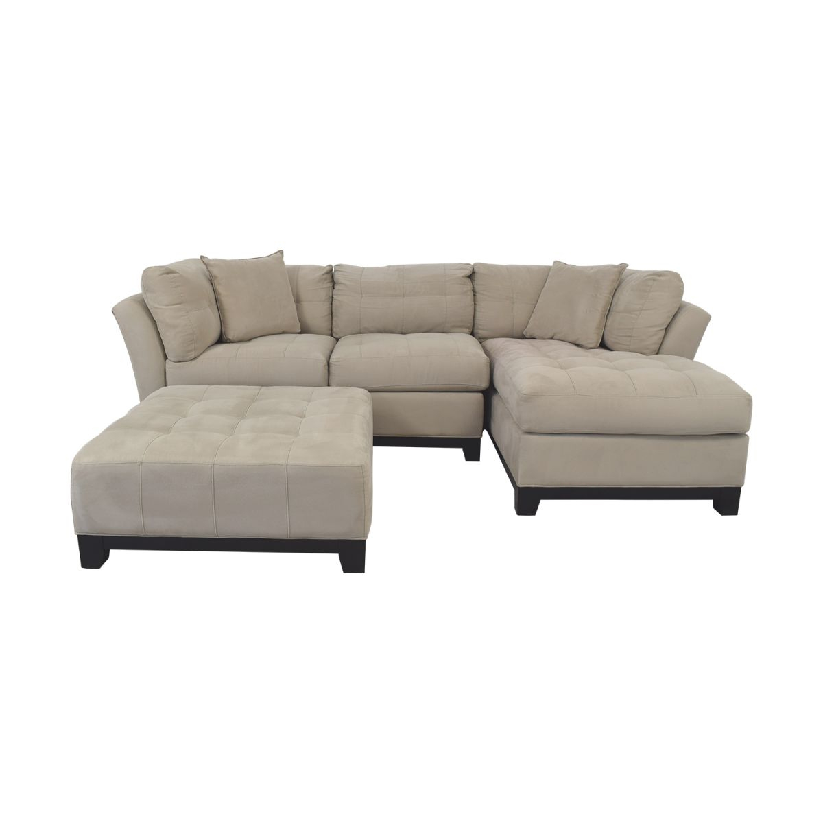 75% Off – Raymour & Flanigan Raymour & Flanigan Sectional Sofa With Chaise And Cocktail Ottoman / Sofas inside Lovely Raymour And Flanigan Sectional Sofas