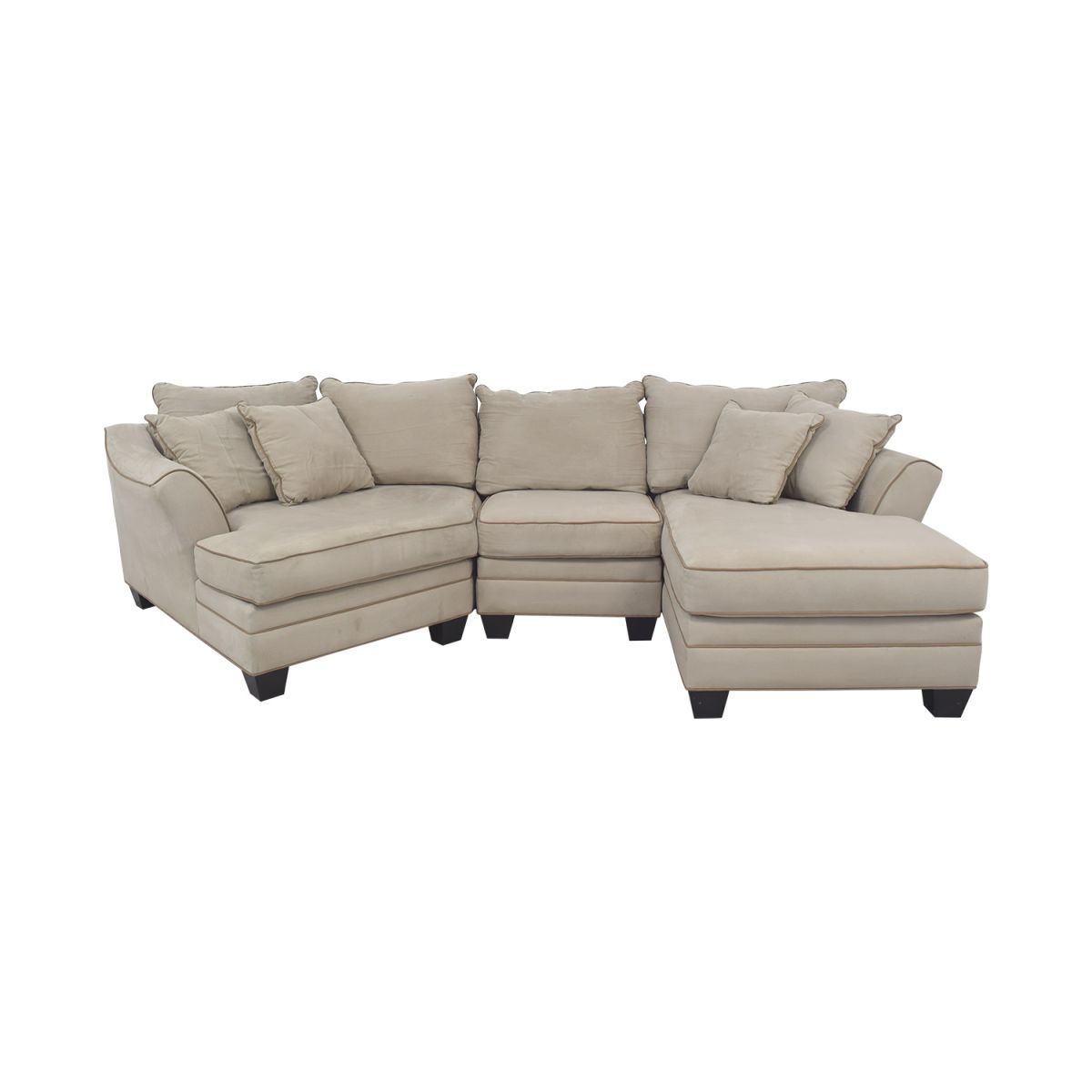 82% Off – Raymour & Flanigan Raymour & Flanigan Foresthill Two-Piece Sectional Sofa / Sofas throughout Lovely Raymour And Flanigan Sectional Sofas