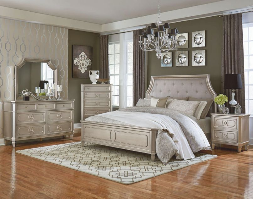 87300 Windsor Silver Bedroom Set-Discontinued for Beautiful Bedroom Sets Furniture
