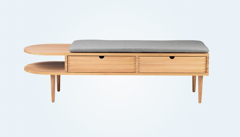 Bench-Storage-Seat-With-Side-Table-Drawers-And-Grey-Cushion
