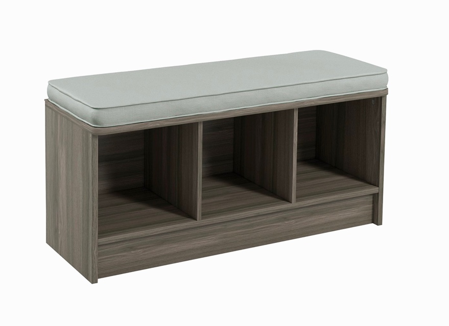 Entryway-Bench-With-Cubbies-And-Fabric-Drawers-Grey-Finish-Cheap