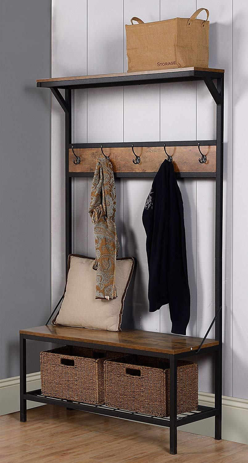 Entryway-Hall-Tree-Bench-Metal-And-Wood-Famrhouse-Style-Entrance-Furniture