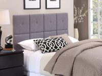 Fabric-Tiled-Headboard-With-Tuft-Grey-Square-Upholstered-Tile