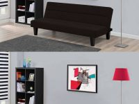 Kebo-Futon-Sofa-Bed-Folding-Guest-Bed-Black-Couch-With-Horizontal-Tufting