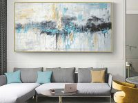 Abstract Art Painting Modern Wall Art Canvas Pictures Large pertaining to Modern Wall Decor For Living Room