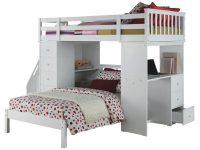 Acme Freya Loft Bed Set With Twin Bed In White 37145/37152 with Luxury Twin Bedroom Furniture Set