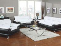 Acme Furniture Orel White Black 3Pc Living Room Set | The for White Living Room Furniture Sets