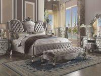 Acme Furniture Versailles 7 Piece California King Size Bedroom Set in Bedroom Set With Vanity