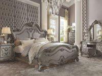 Acme Furniture Versailles 7 Piece King Size Bedroom Set throughout Bedroom Set With Vanity