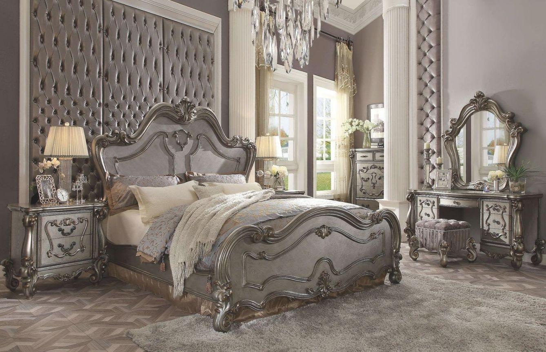 Acme Furniture Versailles 7 Piece King Size Bedroom Set Throughout