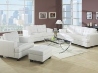 Acme Platinum 2Pc Living Room Furniture White Bonded Leather Sofa & Loveseat with regard to White Living Room Furniture Sets