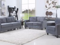 Agnes Classic Microfiber Living Room Set In Dark Grey | For with Unique Grey Living Room Furniture Set