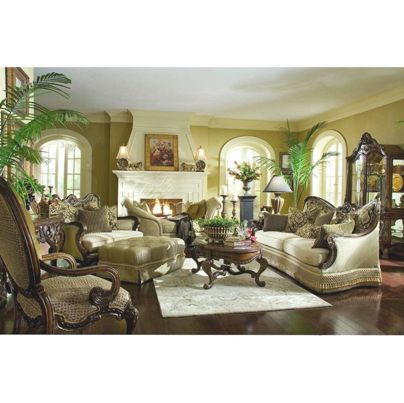 Aico Chateau Beauvais 2 Piece Living Room Setmichael Amini pertaining to Michael Amini Living Room Furniture