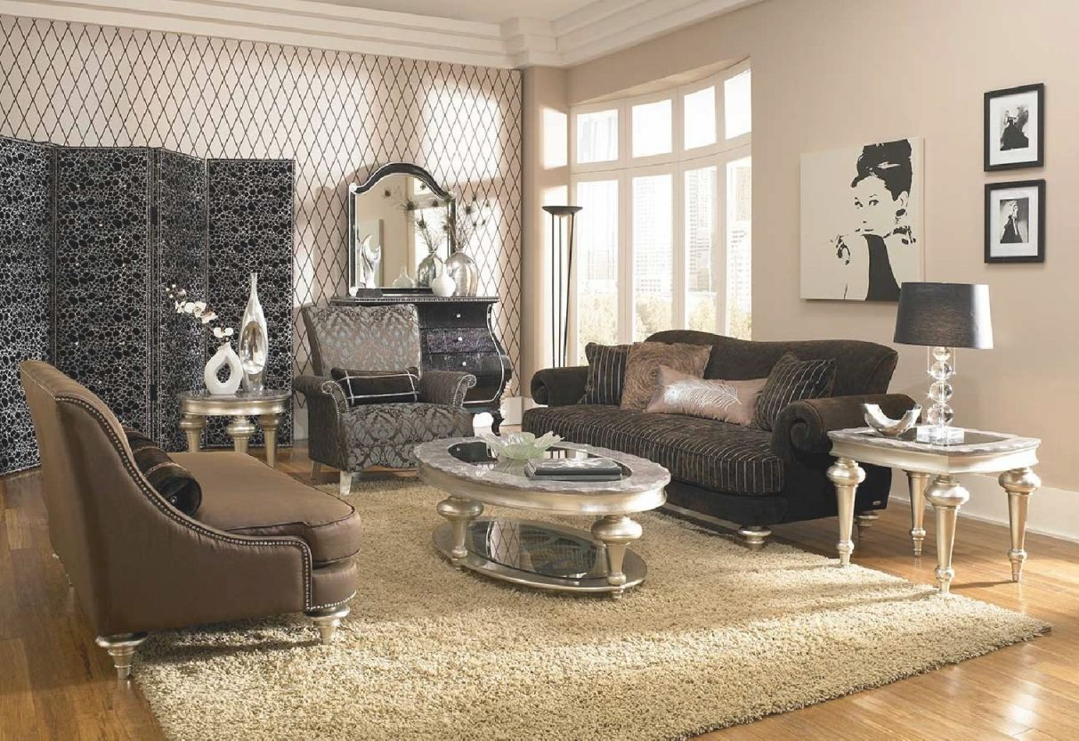 Aico Hollywood Swank Living Room Uphlostery Collection Michael Amini regarding Michael Amini Living Room Furniture